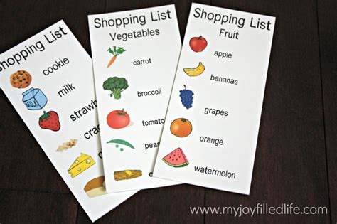 printable toddler grocery list 32 free pretend play printables my joy filled life