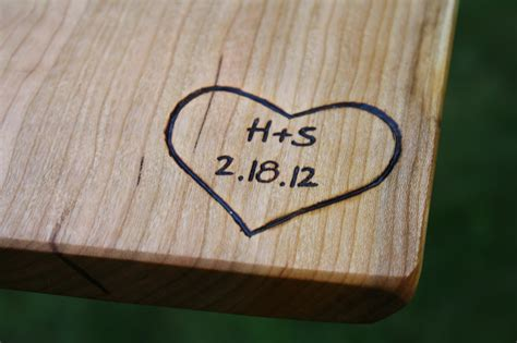 Wedding Anniversary Gift Wood by Cutting Board Personalized Engravings Unique Wedding