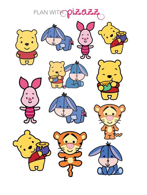 printable stickers disney disney winnie the pooh disney inspired themed by