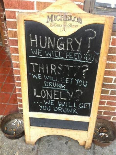 funny  creative bar signs thatll   step