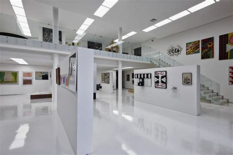 image gallery design big residence with art gallery in lower level je house