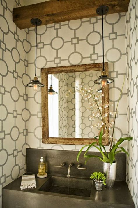 Powder Room Lighting | jarrah jungle laundry powder room lighting inspiration