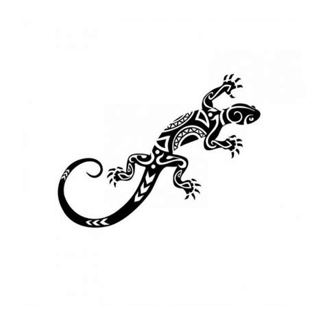 tatouage tribal lezard mod 232 les et exemples