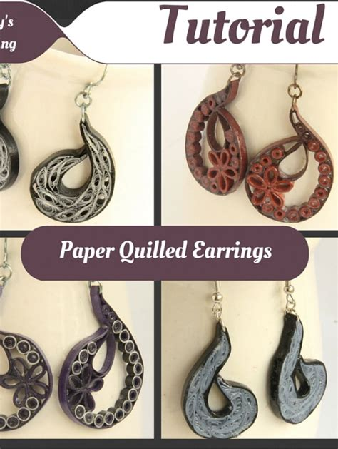 quilling earrings tutorial dailymotion tutorial for paisley indian inspired paper quilling