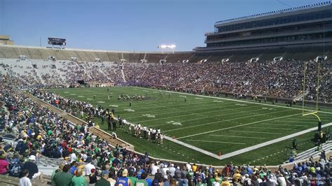 notre dame stadium visitor section notre dame stadium section 22 rateyourseats com