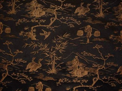 japanese upholstery fabric drapery upholstery fabric jacquard oriental toile black