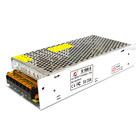 Psu 5v 20a Czcl cheap 5v 20a iron power supply silver ac 110 220v