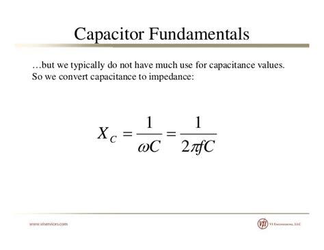 capacitor impedance formula capacitors