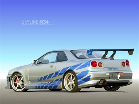 paul walkers nissan skyline nissan skyline gtr r34 movie prop pinterest cars