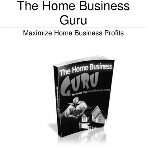 the home business guru ebook download ebooks