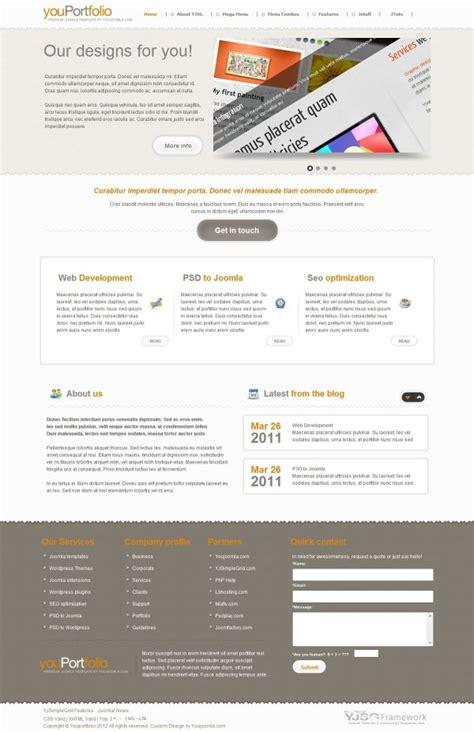 youportfolio portfolio joomla template