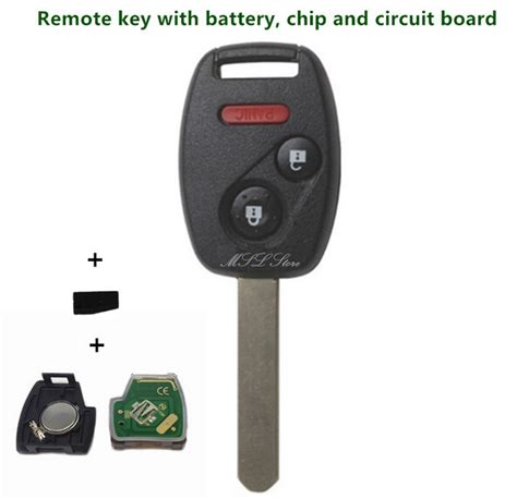 2003 2007 remote key with chip id46 433 mhz for honda