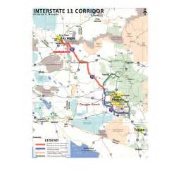 arizona interstate map transportation bill i 11 closer to reality arizona