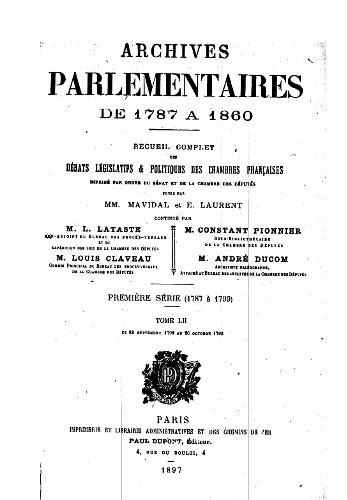 Débats à la Convention (1). Les Archives parlementaires