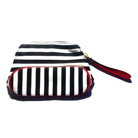 Sephora Makeup Bag sephora sephora black and white striped makeup bag