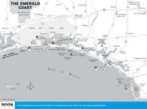 map of emerald coast florida travel map of the emerald coast of florida
