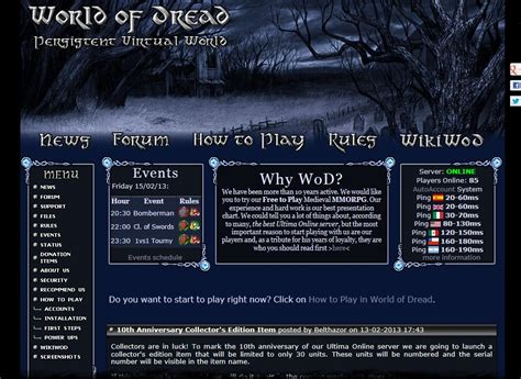 best ultima server world of dread ultima gaming top 100 list
