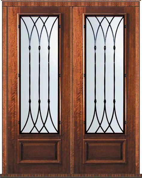 36 X 96 Wood Front Door by Prehung Door 96 Wood Mahogany Warwick 3 4 Lite