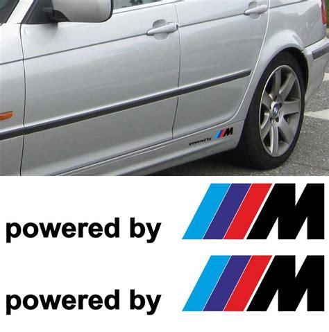 Sticker Side Bmw Motorsport Decal 2x product 2x bmw powered by m m3 m5 m6 325 328 540 decal sticker side custom emblem logo