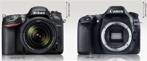 Perbandingan Lensa Canon Dengan Nikon nikon d7200 vs canon 80d