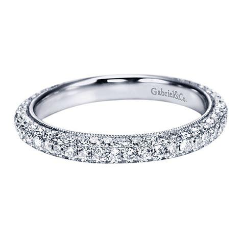 gabriel co engagement rings 14k white gold wedding band