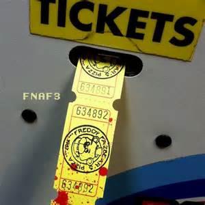 At freddy s vintage arcade tickets art print by evilos fnaf ebay