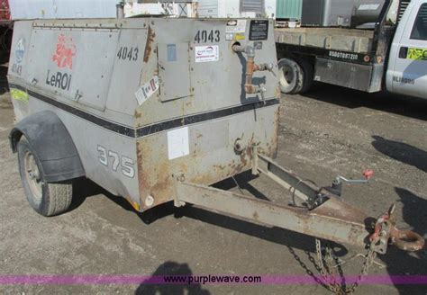 1994 leroi 375 air compressor no reserve auction on thursday april 25 2013
