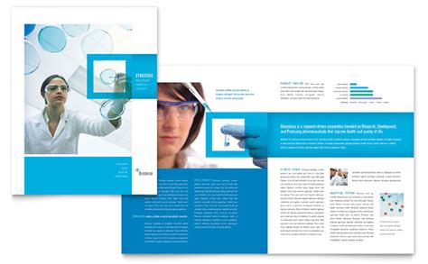 science chemistry brochure template design