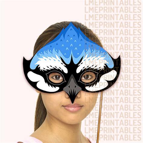 printable bird mask blue jay bird mask printable animal masks paper mountain