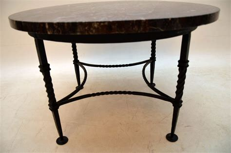 marble and wrought iron coffee table 1950 s vintage marble wrought iron coffee table