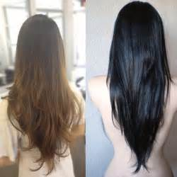 v shaped v cut layered hair long hairstyles