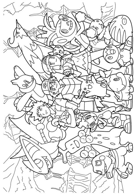 pokemon diamond pearl coloring pages  youre