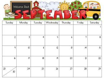 editable monthly calendars   kindergarten calendar preschool calendar kids calendar