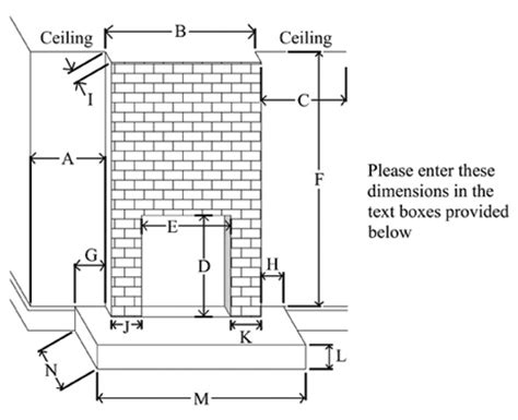 standard fireplace size standard fireplace dimensions quotes