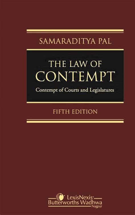 contempt of court contempt of court not bench the law of contempt contempt of courts and legislatures