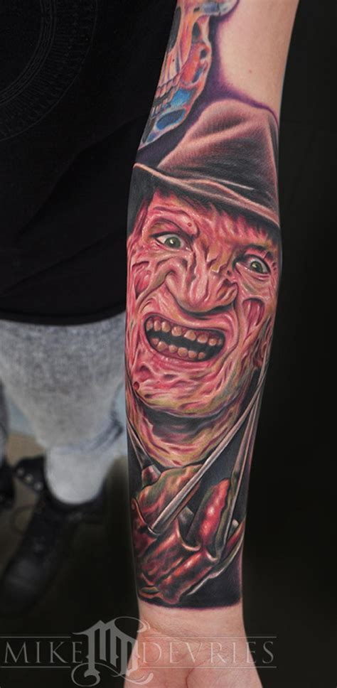 freddy krueger tattoo freddy krueger by mike devries tattoos