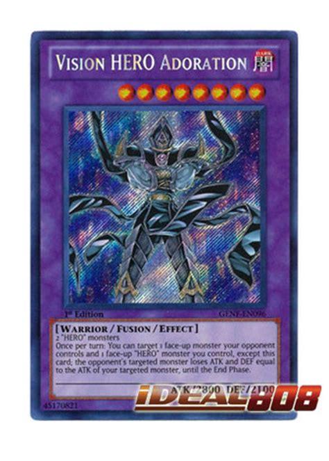 yugioh 1st generation decks vision adoration genf en096 secret 1st