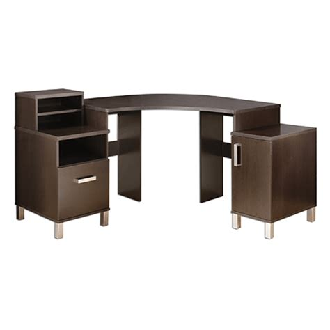 Modern Corner Office Desk Object Moved
