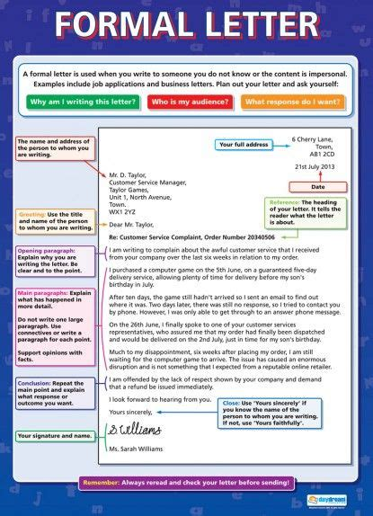 sle formal letter gcse the 25 best ideas about formal letter writing on