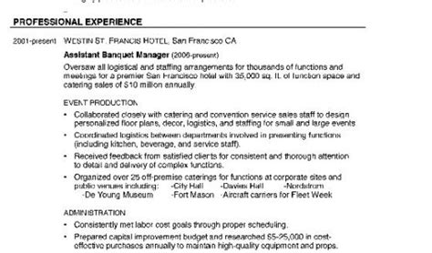 banquet manager resume to do 28 images resume banquet manager ivarexempt ml catering