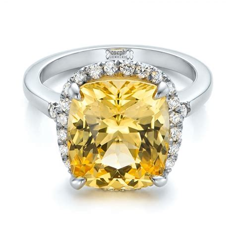 Yellow Sapphire 3 88crt Big Size custom yellow sapphire and engagement ring 102129