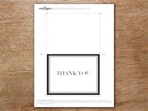 black and white thank you card template thank you card template classic black and white