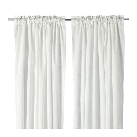 White Curtains Ikea Hillmari Curtains 1 Pair Ikea