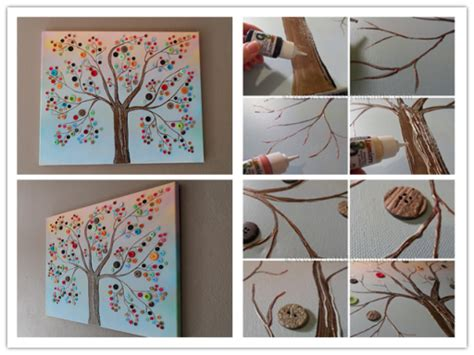 tutorial wall art diy button tree canvas wall art tutorial how to instructions