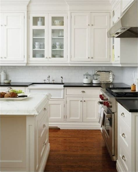 Cloud White Kitchen Cabinets by Spicing Up Subway Tile Centsational
