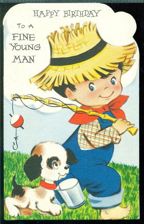 Happy Birthday Wishes To Small Boy Vintage Birthday Card For Little Boy Birthday Wishes