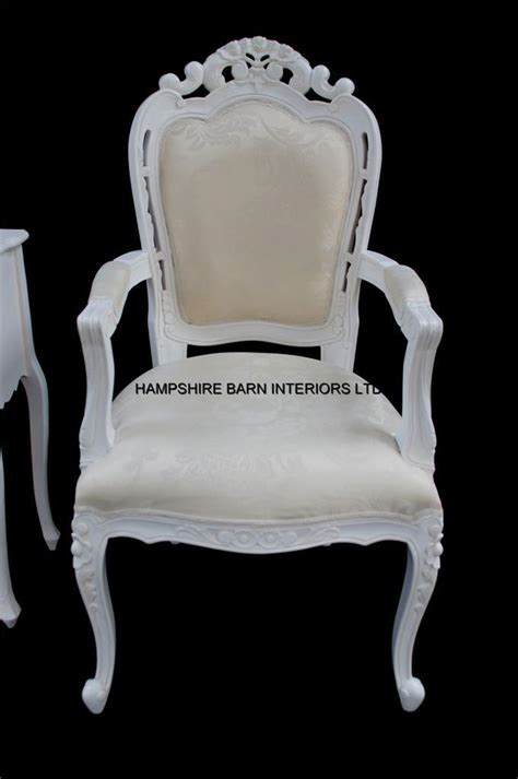 chateau style ornate white chair dining desk