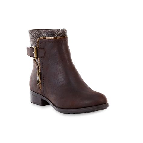 sears womens ankle boots womens lorraine brown ankle bootie
