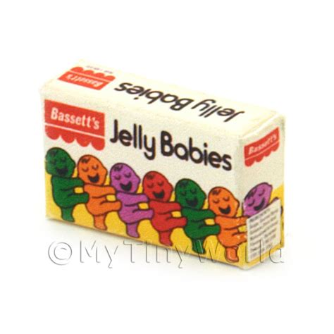 New Packing New Honey Jelly Box Original dolls house miniature packaging dolls house miniature jelly babies sweet box from 1970s