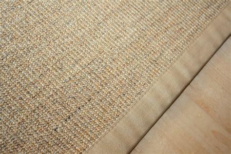 sisal teppich natur sisal teppich manaus natur meliert mit stoffbord 252 re 002
